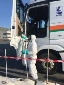 Transport Bert desinfection camion