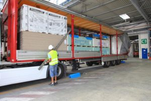 Transport chargement placo